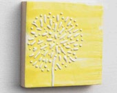 Reserved Listing for  Jennifer - Dandelion Yellow - Original Encaustic Mini Paintings