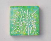 Dandelion GREEN  Original Mini Painting