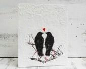 BLACKBIRDS in LOVE White Red Heart Wedding Valentine