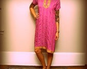 vintage fuschia rhinestone ethnic embroidered tunic on reserve for Ana Cantero (kalakarcolony)