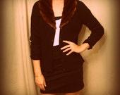 vintage ralph lauren designer faux mink collar cashmere blend cardigan on reserve for Kiera Hackett