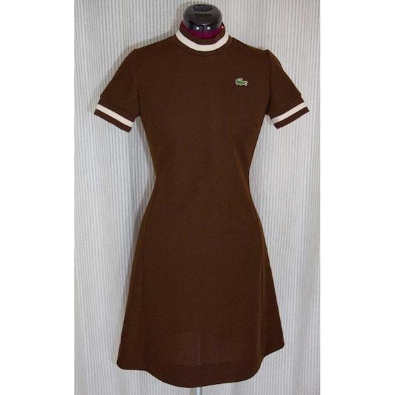 brown 1960's lacoste margot tenenbaum tennis dress