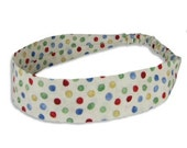 """Fabric Headband - Marbles - Pick your size - fit toddlers to adults - 1-1/2"""" wide"""