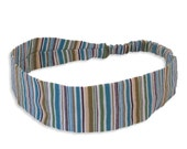 """Fabric Headband - Bliss Stripe - Pick your size - fit toddlers to adults - 1-1/2"""" wide"""