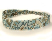 "Fabric Headband - Beach Paisley - Pick your size - fit toddlers to adults - 1-1/2"" wide"