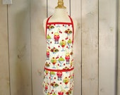 Ice Cream Social Toddler Apron - Reversible apron, full apron, apron for kids, apron with pockets