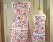 Peace Daisy Mommy and Me (kid size) Apron Set - reversible