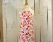 Daisy Field Toddler Apron - Reversible Apron, apron with pockets, full apron by Lucky Ducky Designs