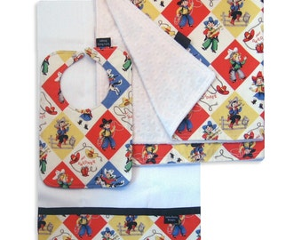 Yippee Receiving Blanket Set with Matching Bib and Burp Cloth