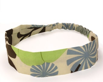 """Fabric Headband - City Girl - Pick your size - fit toddlers to adults - 1-1/2"""" wide"""