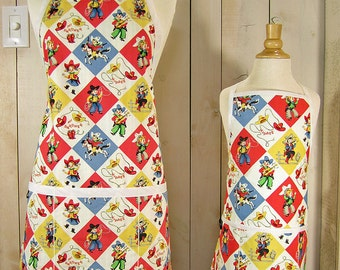 Apron Set - Yippee Mommy and Me Classic Apron - Toddler size - Reversible