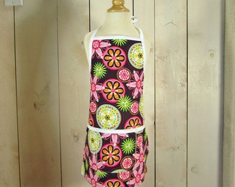 Carnival  Bloom Kids Apron - Reversible Apron, full apron, apron with pockets, apron for kids