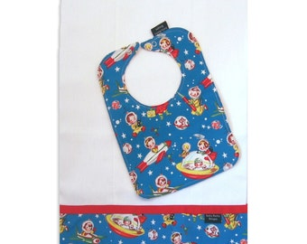 Rocket Rascals Bib and Burp Cloth set