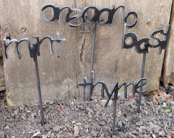 Metal Garden Markers for the garden MOTHERS DAY gift idea