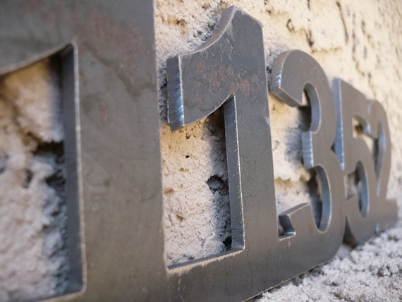 Metal Address Numbers Set of five