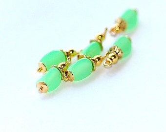 FREE SHIP Vintage Celery Green Charms
