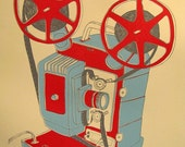 Projector - 20 by 24.5 in. screen print