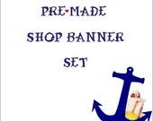 Premade Etsy Shop Banner Set - Sailor Girl