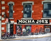 Mocha Joe's signed limited edition print of a painting on silk