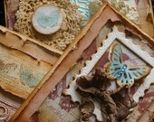 DIY CARD KIT - Vintage Style Cards Set of 3 featuring butterflies and ribbon