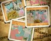 Card Kit - FAIRIES & BUTTERFLIES incl. diecuts, ribbon, Graphic 45 papers , pearls and more.