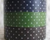 japanese masking tape 3 piece set B - dots
