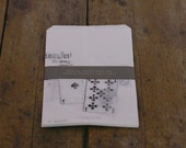 SALE -japanese classiky craft log - glassine paper sack - set of 10 - trump cards