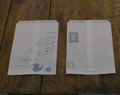 SALE - japanese classiky craft log - glassine paper sack - set of 10 - afternoon tea