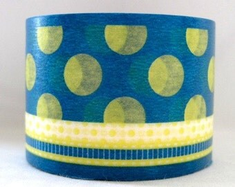 japanese washi masking tape -bold - dot/ribbon - E