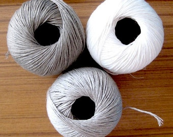 SALE - 100% linen twine - natural beige, off white and light beige - gift wrapping and packaging