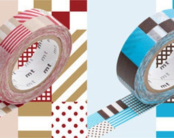 2012 mt masking tape -mixed - red and blue - set of 2