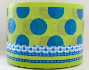 japanese washi masking tape -bold - dot/ribbon - C