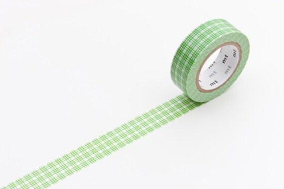 mt masking tape - grass green - three grid squares- single piece