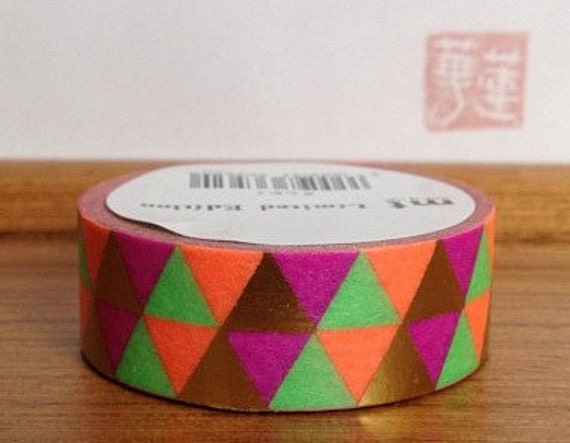 2012 limited edition mt washi masking tape - metallic triangles