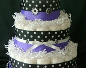 Purple Flower Diaper Cake