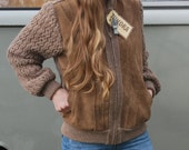 Vintage Tundra Knit Faux Suede Jacket NWT