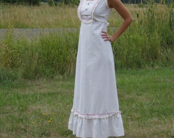 Vintage 70's Sweet Natural Maxi Dress