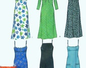 Dress pattern in six sizes and six variations, New Look 6969, Uncut, sleeveless, long sleeves