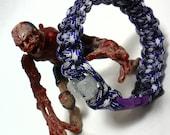 """Zombie Survival Gear Paracord Bracelet - Purple Passion - XL 10"""""""