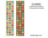 Confetti, Colorful Circles - 2Drop Peyote Bracelet Pattern - INSTANT DOWNLOAD