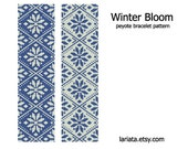 Winter Bloom - Peyote Bracelet Pattern - INSTANT DOWNLOAD