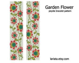 Garden Flower - Peyote Bracelet Pattern - INSTANT DOWNLOAD