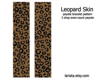 Leopard Skin Pattern - 2Drop Peyote Bracelet Pattern -INSTANT DOWNLOAD