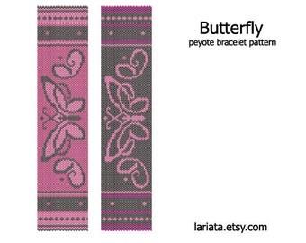 Butterfly - Peyote Bracelet Pattern - INSTANT DOWNLOAD