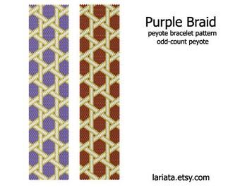 Purple Braid - Peyote Bracelet Pattern - INSTANT DOWNLOAD