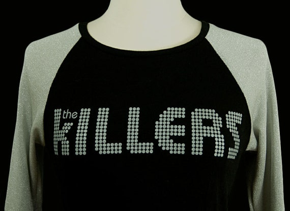 The Killers UPCYCLED Raglan Sleeve Ladies T-Shirt size MD