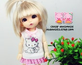 B106 -  Lati yellow / Pukifee outfits - Kitty dress and socks