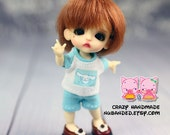 A109 - Lati White basic Outfits (T-shirt and short pants)