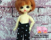 A150 - Pants for Pukipuki / felix brownie doll / lati white sp / obitsu 11 cms.