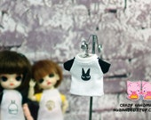 A071 - T-shirt for lati white Sp / pukipuki / felix brownie doll / obitsu 11 cms.